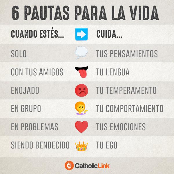 Infografía: 6 pautas para la vida