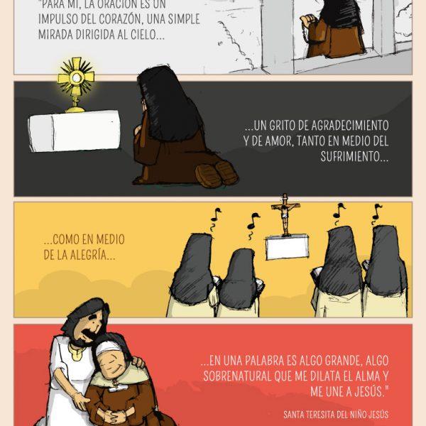Infografía: La oración según Santa Teresita del Niño Jesús
