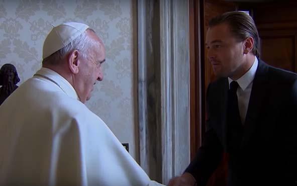 Cambio climático, Leonardo DiCaprio y el Papa Francisco en un documental sobre el cambio climático