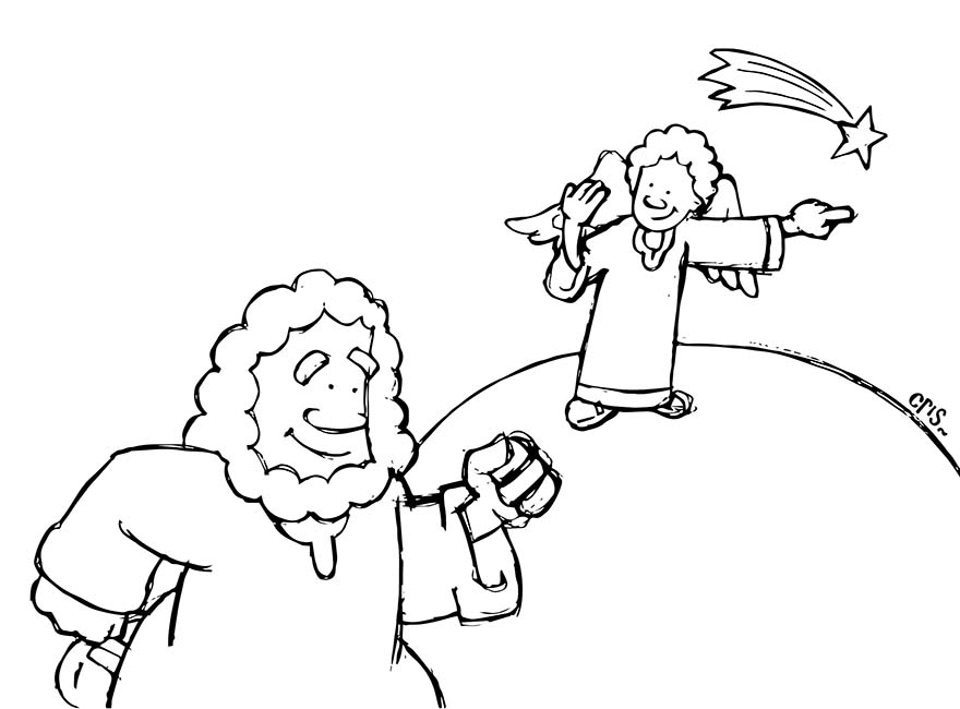 Caricaturas para que los niños coloreen en Navidad