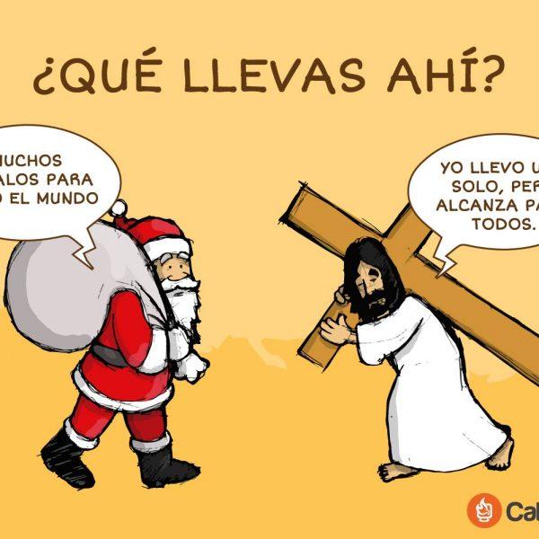 ¿Qué llevas ahí? Jesús vs. Papá Noel