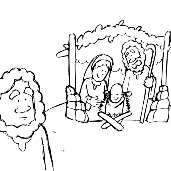 Caricaturas de Navidad para colorear