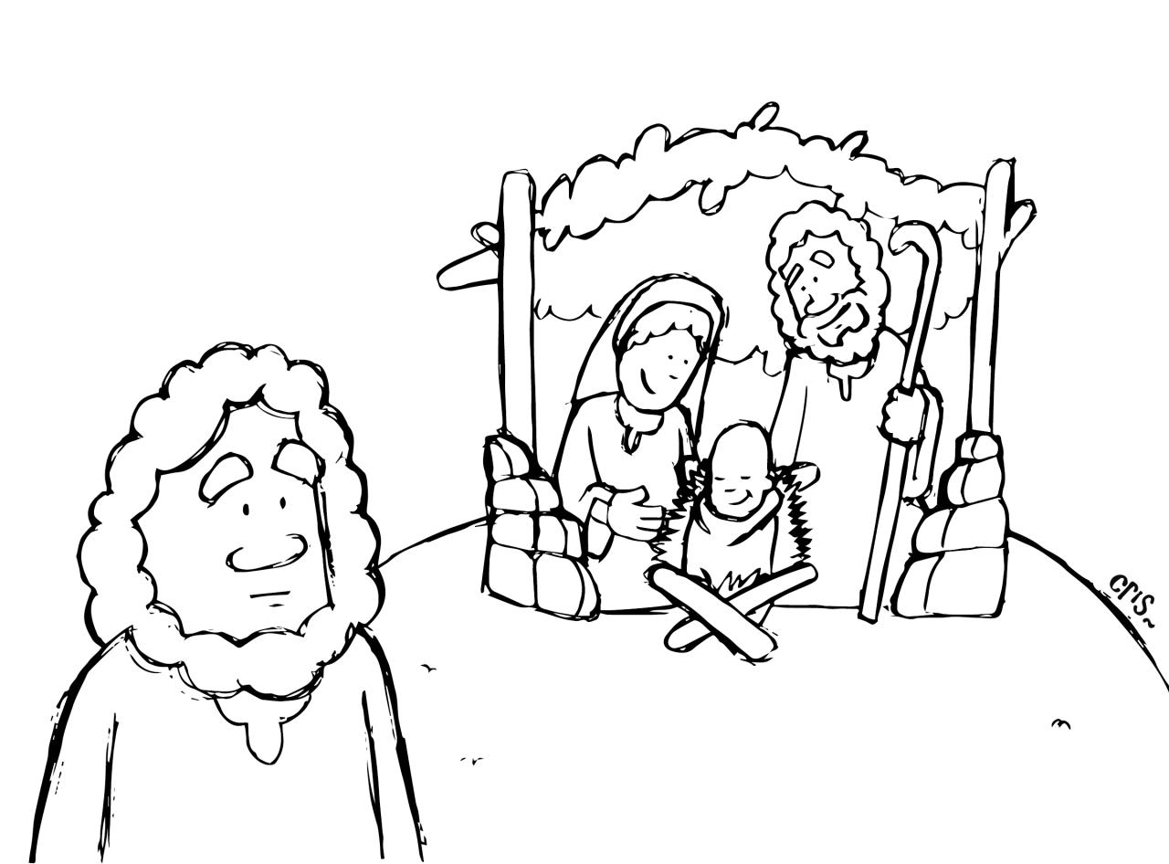 Caricaturas De Niños Para Colorear: Caricaturas De Navidad Para Colorear
