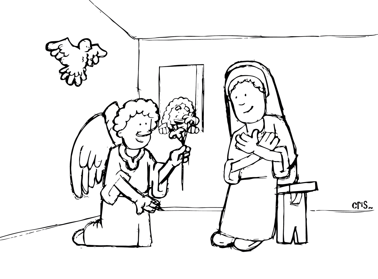 Caricaturas de Navidad para colorear | Catholic-Link