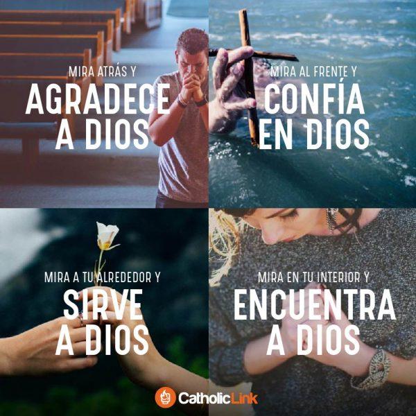 Mira atrás y agradece a Dios, mira al frente y confía en Dios
