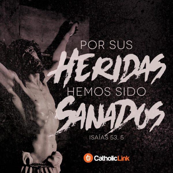 """""""Por sus heridas hemos sido sanados""""   Isaías 53, 5"""
