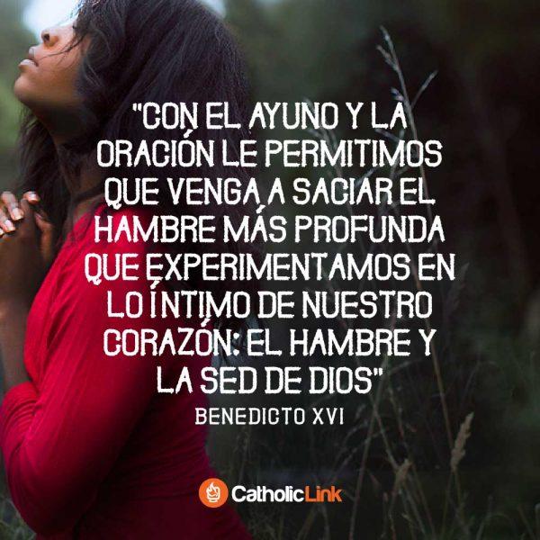 Ayuno y oración en Cuaresma | Benedicto XVI