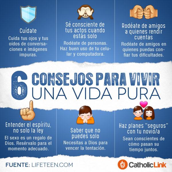 Infografía: 6 consejos para vivir la pureza