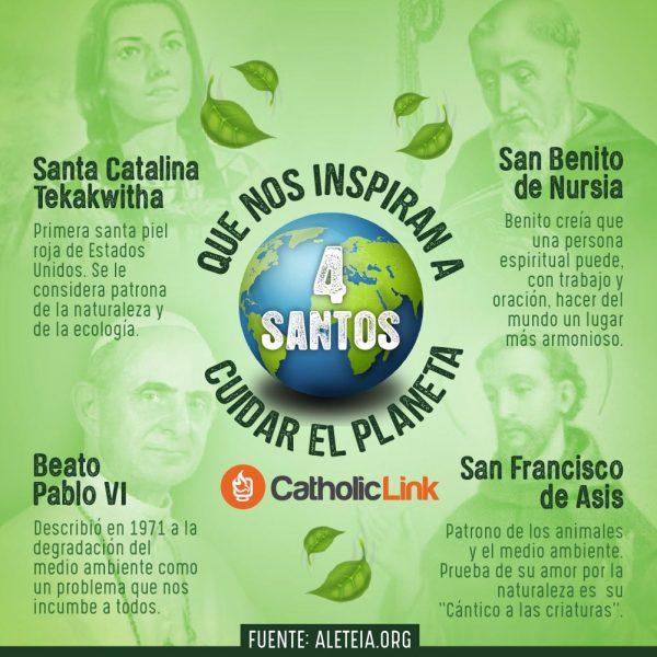 Infografía: 4 santos que nos inspiran a cuidar el planeta