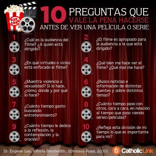 Infografía: 10 preguntas antes de ver una película o serie