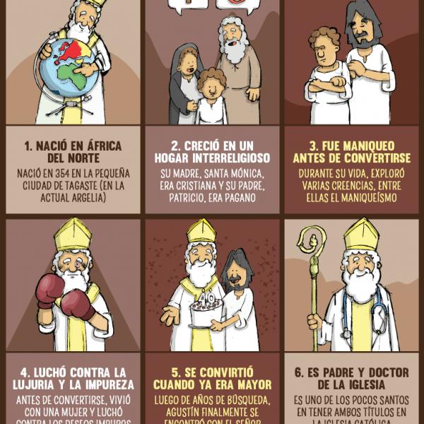 Infografía: 6 cosas que no sabías sobre San Agustín