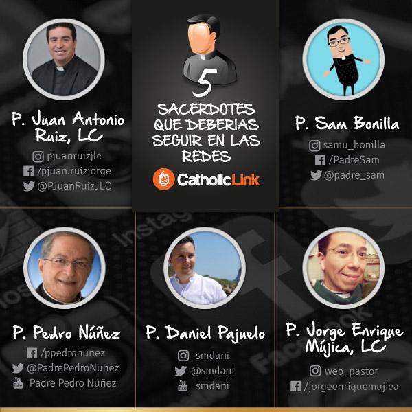Infografía: 5 sacerdotes que deberías seguir en las redes