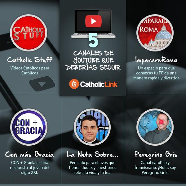 Infografía: 5 canales católicos de YouTube que deberías seguir