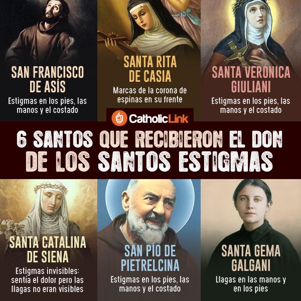 Infografía: 6 santos que recibieron los estigmas