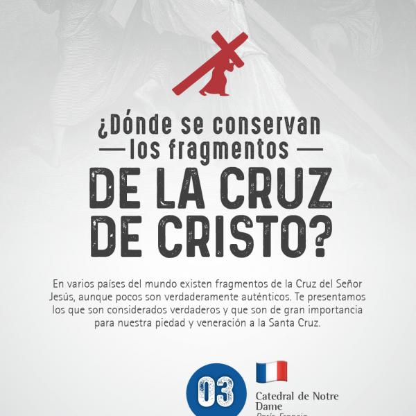 Infografía: ¿Dónde se conservan los fragmentos de la Cruz de Cristo?