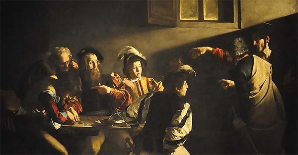 , El poder de una mirada. Reflexión sobre la vocación de san Mateo en el cuadro de Caravaggio