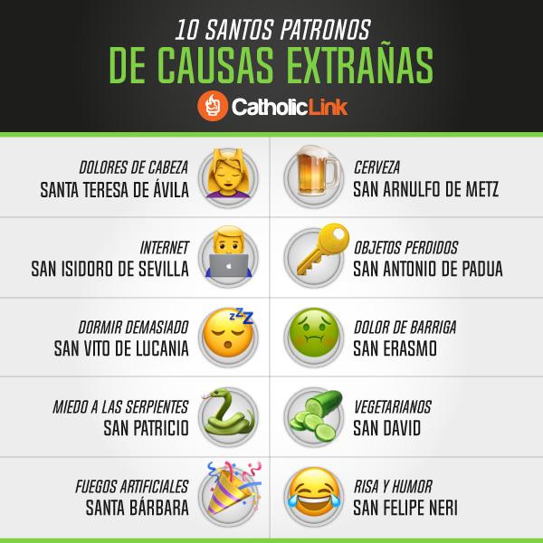 Infografía: 10 santos patronos de causas extrañas