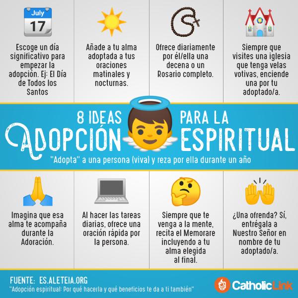 Infografía: 8 ideas para la adopción espiritual