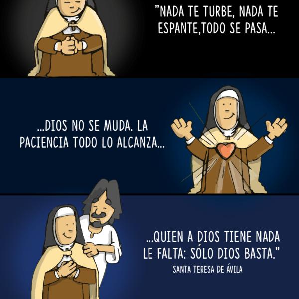 Infografía: «Nada te turbe…» Santa Teresa de Jesús