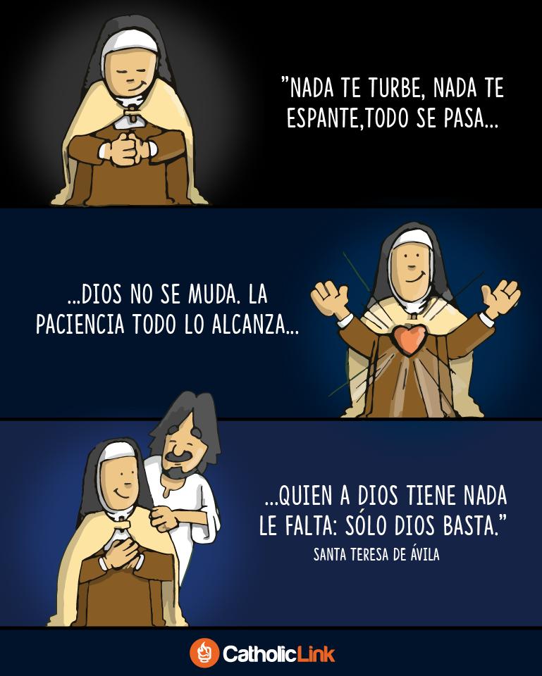 Infografía Nada Te Turbe Santa Teresa De Jesús Catholic Link