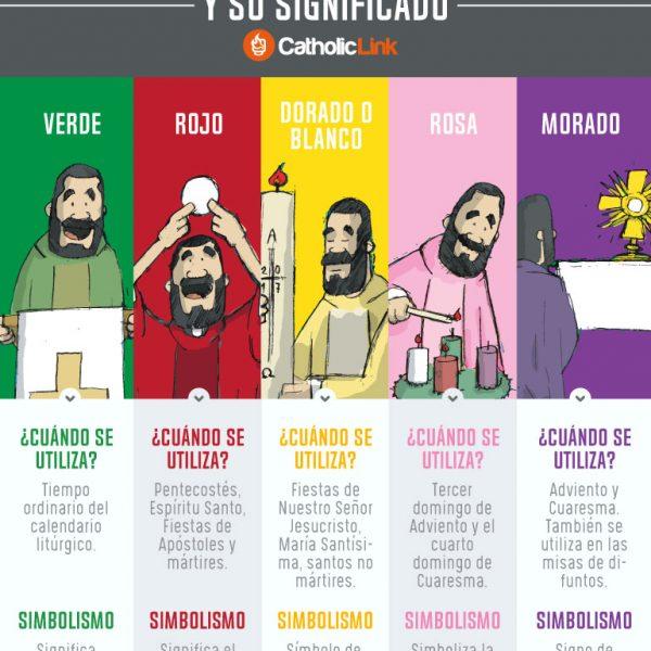 Infografía: Los colores litúrgicos y su significado