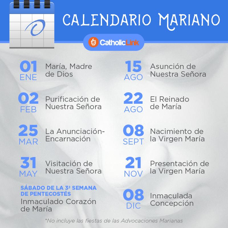 Calendario Mariano.Infografia Calendario De Las Principales Fiestas Marianas