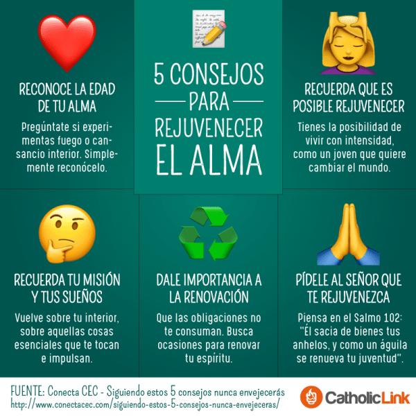 Infografía: 5 consejos para rejuvenecer el alma