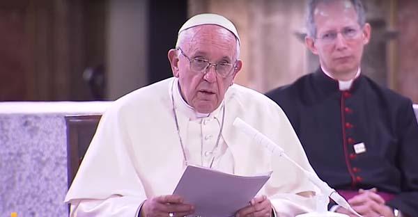 Consagrados, Las más ciertas y profundas palabras que ha dirigido el Papa Francisco a los consagrados