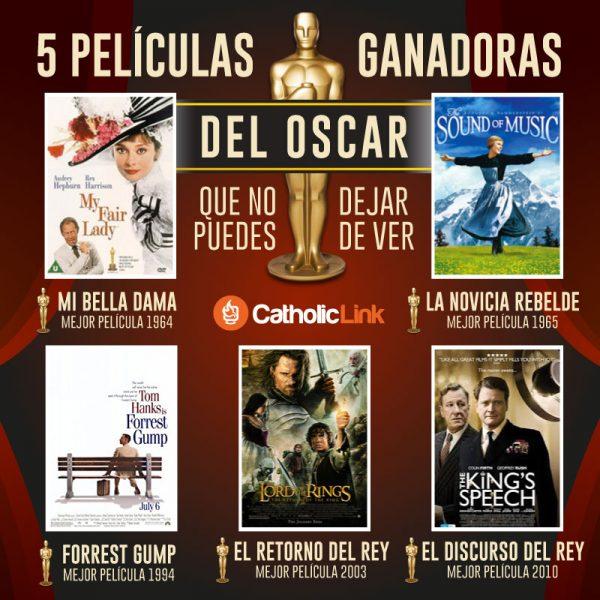 Infografía: 5 películas ganadoras del Oscar que vale la pena ver