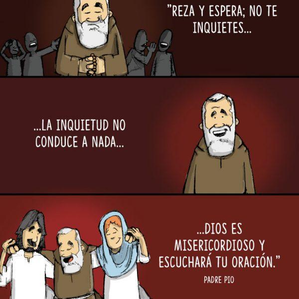Infografía: Reza, espera y no te inquietes, Padre Pío