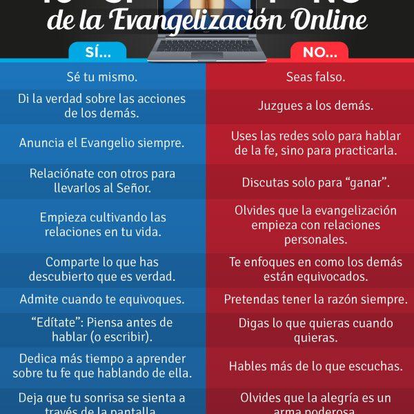 Infografía: Los 10 «sí» y «no» de la evangelización online