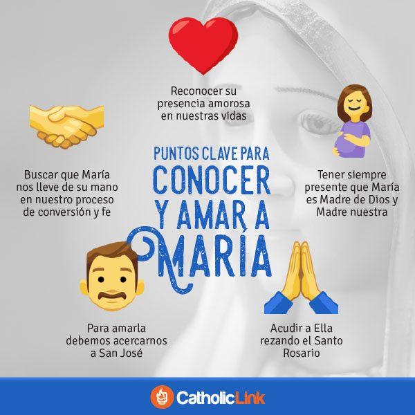 Infografía: Puntos clave para conocer y amar a María