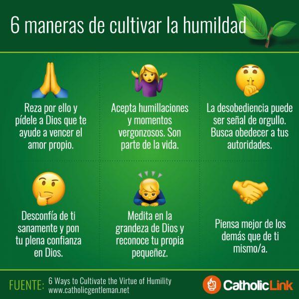 Infografía: 6 maneras de cultivar la humildad