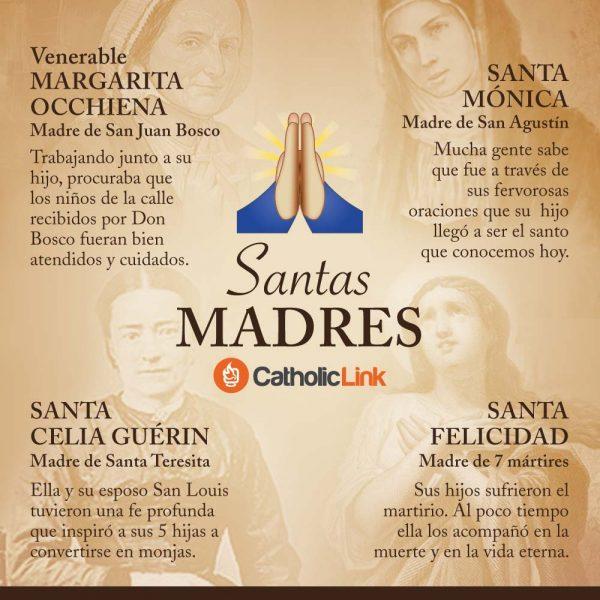 Infografía: Santas madres que vale la pena conocer