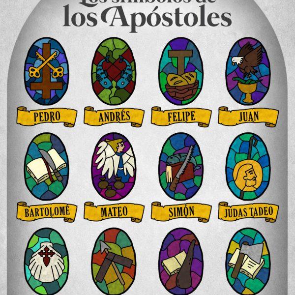 Infografía: Los símbolos de los Apóstoles