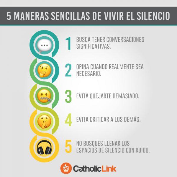 Infografía: 5 maneras sencillas de vivir el silencio
