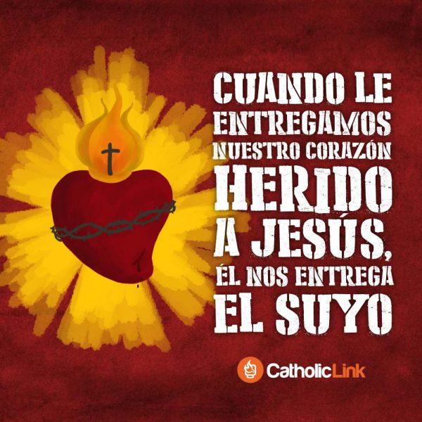 Cuando le entregamos nuestro corazón herido a Jesús