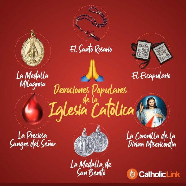 Infografía: Devociones populares de la Iglesia Católica