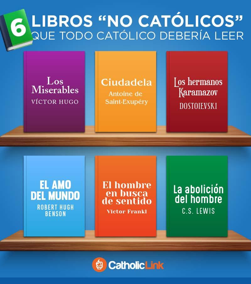 Infografía 6 Libros No Católicos Que Deberías Leer
