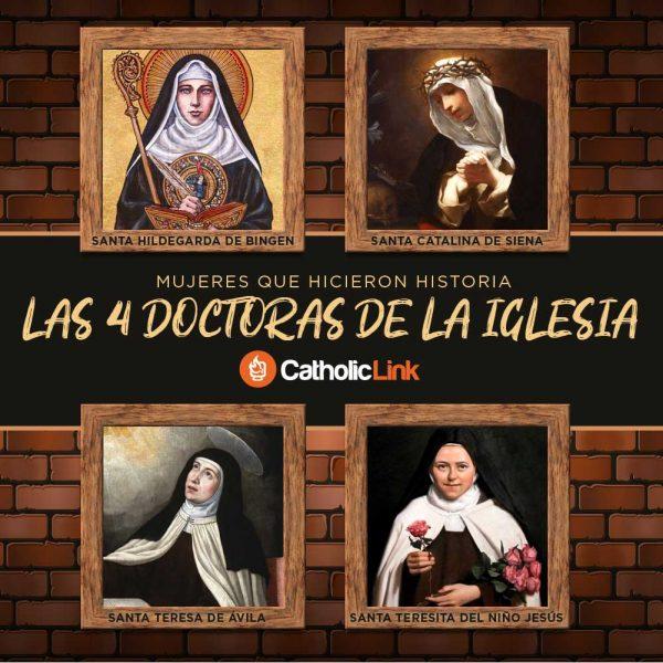 Infografía: Las 4 Doctoras de la Iglesia