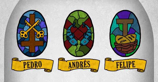 apóstoles, (Infografía) ¿Cuál es el significado de los símbolos de Los Apóstoles?