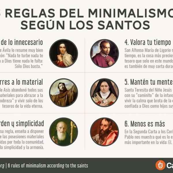 Infografía: 6 reglas del minimalismo según los santos