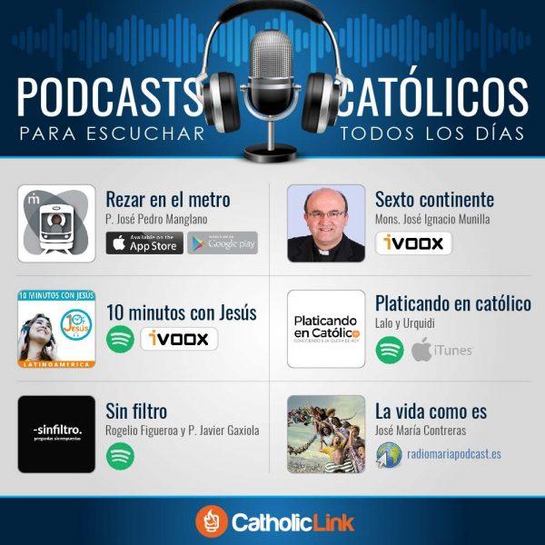 Infografía: Podcasts católicos que vale la pena escuchar