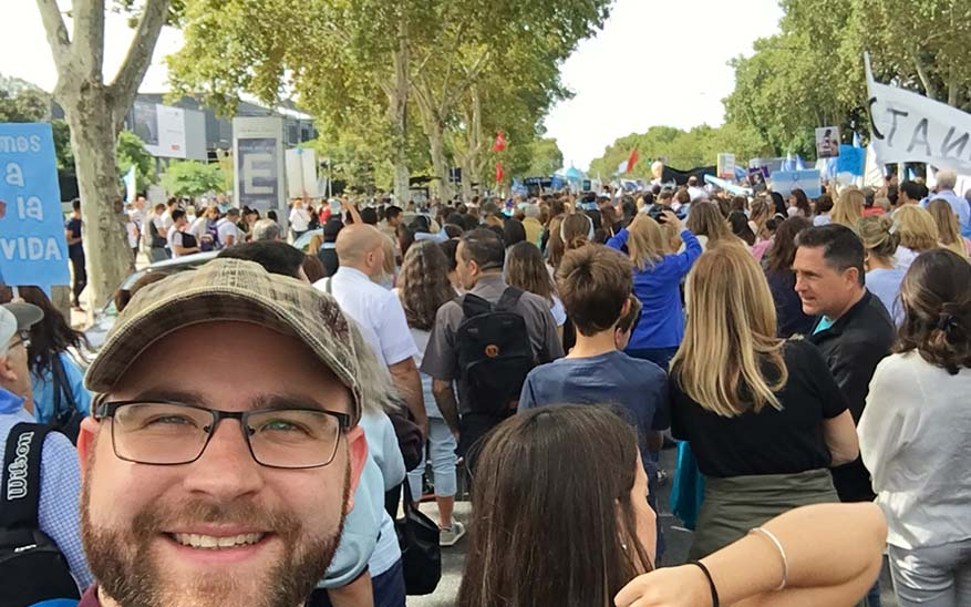 vida, 5 valiosas lecciones que experimenté durante la Marcha por la Vida en Argentina