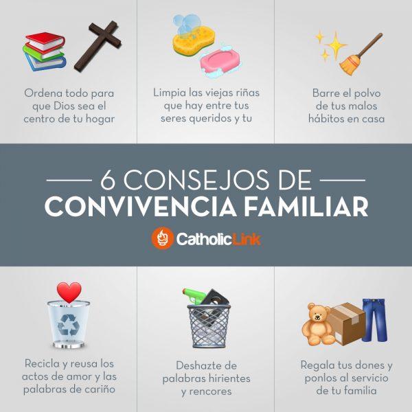 Infografía: 6 consejos de convivencia familiar