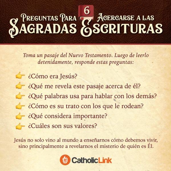 Infografía: 6 preguntas para acercarse a la Biblia