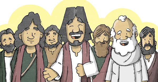 12 apóstoles, Los 12 apóstoles de Jesús, iconografía para niños