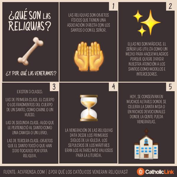 Infografía: ¿Qué son las reliquias y por qué las veneramos?