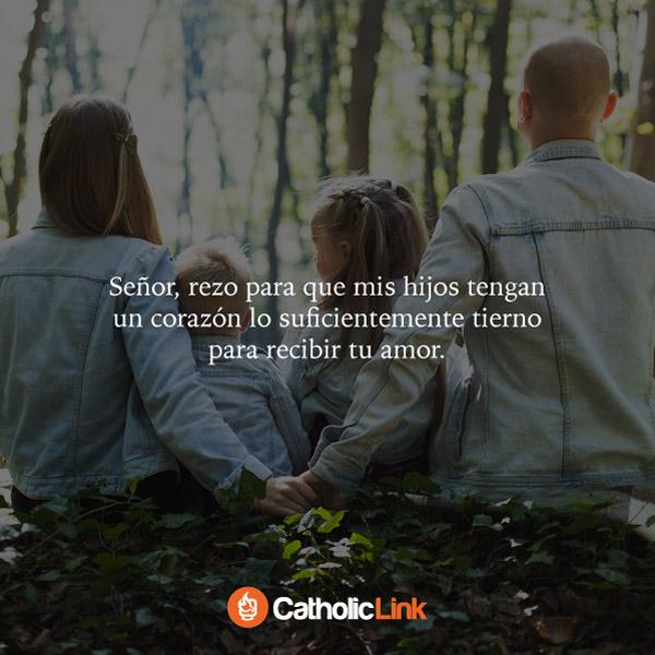 Oración a Dios de un padre por sus hijos