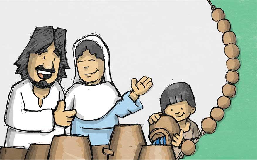 Misterios Luminosos, Misterios Luminosos del Santo Rosario en caricaturas